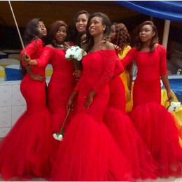 long dresses south africa 2019 - Hot South Africa Style Nigerian Lace Bridesmaid Dresses 2018 Plus Size Mermaid Maid Of Honor Gowns For Wedding Lace up B
