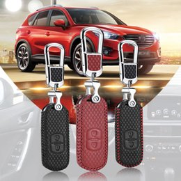 mazda smart key Australia - For Mazda 2 3 6 CX-5 buttons Smart Key Keyless Remote Entry Fob Case Key Chain