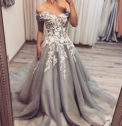 Sweetheart Beaded Evening Tulle Champagne Australia - Silver Lace Beaded 2018 Evening Dresses Sweetheart A-line Tulle Prom Dresses Cheap Sexy Pageant Bridesmaid Formal Party Gowns