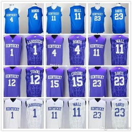 d6d882e55a2 ... royal blue college basketball jerseys  skal labissiere 4 rajon rondo 11  john wall 12 karl anthony towns 15 demarcus cousins 23