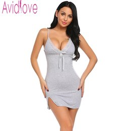 fe7749c4b0 Avidlove Sexy Cotton Nightgown Women Sleeveless Strap Nightwear Sleepwear  Female Lounge Wear Night Dress Home Sleepshirt Nighty