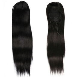 China Straight Pony tail hairpiece Human Hair European Remy Human Hair Ponytail Extensions Tail of Human Hair Natural Ponytails supplier remy hair pony tail suppliers