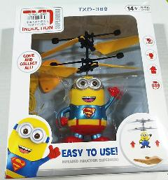 Flashing Helicopter Toy Australia - Minion Fly Flashing helicopter hand control RC toy helicopter Quadcopter Drone Ar.drone with LED remote control for free transportation