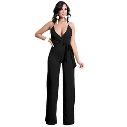 3ad60cbef17 New Arrival 2018 Summer Women Sexy Spaghetti Strap Party Jumpsuits Black  White Backless Slim Rompers Deep V-Neck Casual Jumpsuit