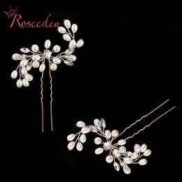 pearl floral wedding hair combs Australia - Beautiful Floral Wedding Tiara Sparkling Silver Plated Crystal Pearl Bridal Hair Combs Hairpin Jewelry Hair Accessories RE609 S919