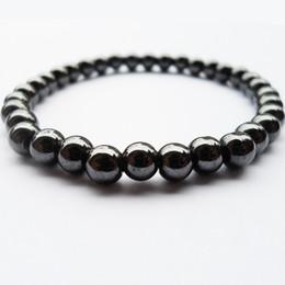 Chinese  2018 Nwe Goods 6MM Black gallstone hematite Buddha beads couples health Semi-precious Stone Bracelet Jewelry manufacturers