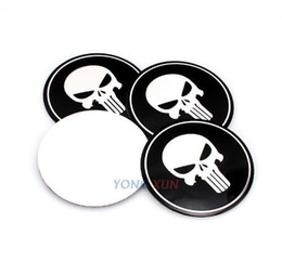 $enCountryForm.capitalKeyWord NZ - 4pcs set Car Emblem Center Wheel Hub Cap Sticker Badge Cover Stickers For wheel modified Aluminum Sticker For pulisher skull