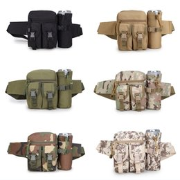 military cameras 2019 - Outdoor Travel Military Sport Camera Waist Bag Detachable Water Bottle Holder Waist Belt Pouch Shoulder Bag Support FBA