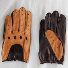 $enCountryForm.capitalKeyWord Australia - New Arrival Male Genuine Leather Gloves High Quality Fashion Mens Unlined Wrist Breathable Sheepskin Driving Gloves Men Mittens