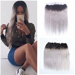 $enCountryForm.capitalKeyWord NZ - Brazilian Virgin Human Hair Bundles Sliver Grey 8A Straight Human Hair Weaves With Lace Frontal Closure 13*4 Lace Frontal Straight Hair 4Pcs
