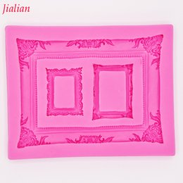 $enCountryForm.capitalKeyWord UK - Jialian mirror picture frame modelling 3D silicone mold cake decoration mold fondant FT-0950