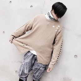 korea bamboo 2019 - Europe and the United States trend of men Korea loose sets of cardigan sweater shirt young students line clothing cheap