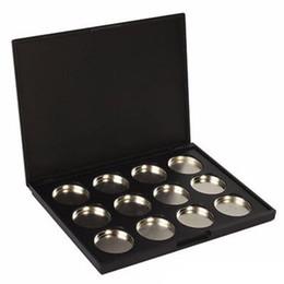 Empty Eyeshadow Pans UK - 5pcs lot Makeup Cosmetic Empty 12 pcs Aluminum Magnetic Eyeshadow Eye Shadow Pigment Pans Palette Case