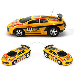 mini rc car 63 NZ - New Design Mini Rc Car Christmas Childrens Toy Gift High Speed Coke Can Remote Control Car 1 :63 Automobile Race Model