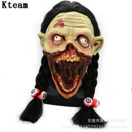 zombie masks 2019 - New Incident Ghost Mask Terrible Face Zombie Evil Figure Halloween Horror Witch Full Face Mask Festival Party Supplies H