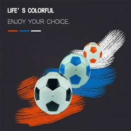 $enCountryForm.capitalKeyWord Australia - New World Cup Colorful Lights Football Bluetooth Speaker Portable Soccer wireless Subwoofer Anti-drop PU Leather Color Lights roly-poly ball
