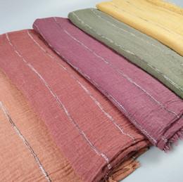 $enCountryForm.capitalKeyWord Australia - 2018 New crinkle bubble cotton scarf plain popular shawls hijab spring wrinkle wrap muslim scarves scarf