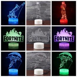 4 estilos Jogo Fortnite Colorido candeeiro de mesa dos desenhos animados 3D luz da noite 2018 moda Decoração do quarto Do Bebê Lâmpadas LED MMA377