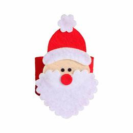 $enCountryForm.capitalKeyWord NZ - 100 Pcs\lot Laial Napkin Rings Non-woven Fabrics Santa Claus Napkin Ring Holder For Christmas Hotel Home Table Decoration