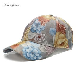 3b5a6f4b17d New Funky Junque Womens Floral Daisy Peony Flower Print Baseball Cap  Fashion Hat For Girls Breathable Mesh Hat Gorras Summer Cap