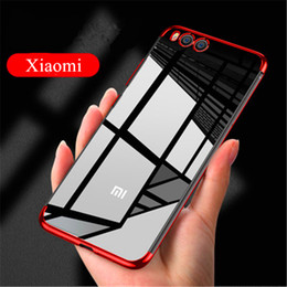 Wholesale Luxury Phone Case For Xiaomi X Note3 Mix for Redmi A X A Plated Soft TPU Clear Slim Case with Colorful Frame