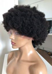 New Afro Kinky Hair Australia - Afro Kinky Curl Full Lace Wigs New Popular Style 130% Density Lace Front Wigs Virgin Malaysian Hair 100 Human Hair Free Shipping