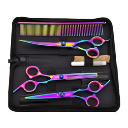 Dog grooming clipper sets online shopping - Hot Sale Pet Hair Cut Colorful Scissors Clippers Flat Tooth Cut Pets Beauty Tools Set Kit Dogs Grooming Hair Cutting Scissor Set