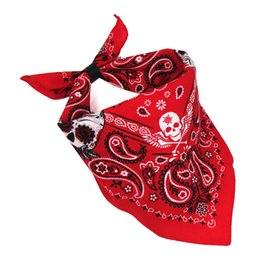 Homens vermelhos bandanas paisley skullies adolescente hip moda quadril street fashion headbands masculino motocicleta heavy metal Harajuk máscara cachecol