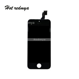 Iphone 5c Screens Panels Australia - 10Pcs lot For iPhone 5 5C LCD Display Touch Complete Screen Digitizer Replacement Parts Assembly Black White Free DHL Shipping