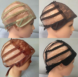 $enCountryForm.capitalKeyWord NZ - Wig Caps For Making Wigs adjustable straps back swiss lace full front lace wig cap wig weave net hair extension