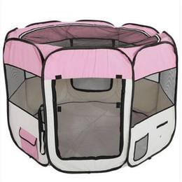 2018 Оптовая 57 дюймов портативный складной 600D Оксфорд ткань сетки Пэт Манеж забор с восьми панелей 59 см 94 см собака путешествия на открытом воздухе на Распродаже