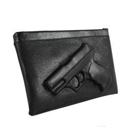 3d fashion bag online shopping - 2018 Gun D print handbag women clutches chains pu leather crossbody bags woman messenger candy color shoulder bags