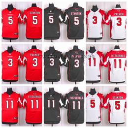 Custom Cardinals  11 Larry Fitzgerald 5 Drew Stanton 3 Carson Palmer Elite Football  Jerseys a5e741327