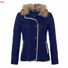 Women slim fit parka online shopping - New Womens Down Parkas Collar Faux Raccoon Fur Coat Euro Style Outwear Slim Fitted Coats Lining Winter Jacket Ladies SVH031591