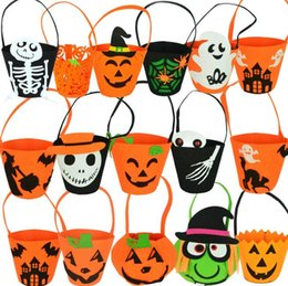 $enCountryForm.capitalKeyWord Australia - Halloween supplies portable pumpkin bag non woven pumpkin bags three dimensional pumpkin bag candy bag children's toys retail wholesale