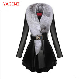 $enCountryForm.capitalKeyWord NZ - Top quality Winter coat Women Leather clothes New product Sheep skin Fox fur collar Down feathers Keep warm Women coat K2509
