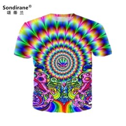 $enCountryForm.capitalKeyWord Canada - New Fashion 3D Print Colourful Psychedelic T shirts Summer Quick Dry T Shirts Hip Hop Short Sleeve Tops Cool Men Style comforable cheap tees