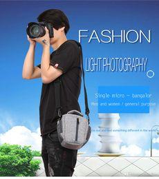 $enCountryForm.capitalKeyWord NZ - Camera Bags Sling Shoulder Digital DSLR Video Photo Bag Waterproof Canvas Soft Carry Case For Dslr