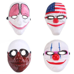 Dallas Mask UK - Minch Clown Game PAYDAY 2 The Heist Dallas Mask Cosplay Props Halloween Mask Collection Hot Full Masks