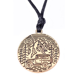 Chinese  Myshape Wholesale,Fashion Zinc Alloy Outdoor Gift Camper Pine Tree Mountains Camping Jewelry Pendants for gift manufacturers