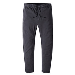 China Summer Straight Long Leisure Pants For Men Spring Autumn Male Thin Gray Fashion Casual Hip Hop Streetwear Trousers Mens Overalls cheap mens thin summer trousers casual suppliers