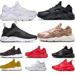 cbe5daf7146e 2019 New Huarache 4.0 1.0 Triple White Black red gold mens womens Huaraches  Shoes sports Sneaker Running Shoes size EUR 36-45