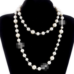 Women pendant necklace online shopping - 2018 brand designer Long Sweater Chain Colar Maxi Necklace Simulated Pearl Flowers Necklace Women Fashion Jewelry bijoux femme