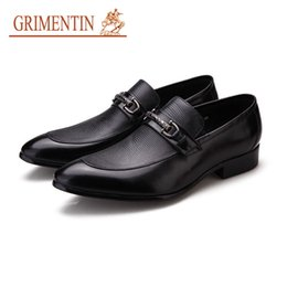 $enCountryForm.capitalKeyWord Australia - GRIMENTIN Hot sale Brand Mens Shoes Italian Fashion Genuine Leather Slip-On Man Loafers Black Brown Formal Business Office Dress Men Shoes