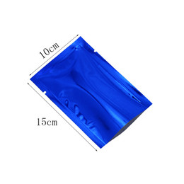 package packing bags NZ - 10*15cm 500pcs lot Blue Aluminum Foil Open Top Bags Heat Seal Vacuum Mylar Foil Packaging Bag Pouch For Powder Coffee Pack Packing Pouch