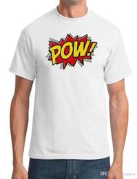 $enCountryForm.capitalKeyWord Canada - Tee Shirt Hipster Brand Clothing T Shirt POW - Comic Inspired Funny - Mens T-ShirtHigh Quality Top Tees
