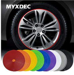 protection strips 2019 - 8 M Car Motorcycle Wheel Hub Tire Sticker Car Decorative Strip Wheel Rim Protection Care Covers Accessories Car Styling