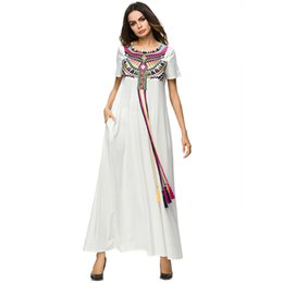 3996cab72909 3187119 Hot Sell Middle East Women Folk Nation Muslim Embroidered Robe 2018 Summer  Wear Korean Style Musulman Women s Dress Mujer Vestidos
