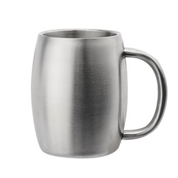 $enCountryForm.capitalKeyWord UK - Stainless Steel Mug Coffee Beer Cup Double Wall Water Mug Traveling Outdoor Camping Sports Mugs For Home Bar