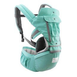 AIEBAO Ergonomic Baby Carrier Infant Kid Baby Hipseat Sling Front Facing Kangaroo Wrap Carrier for Travel 0-18 Months